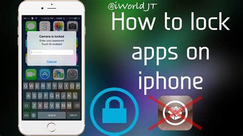 pattern lock jailbreak ios 8 how to lock apps on iphone ios 8 3 no jailbreak youtube