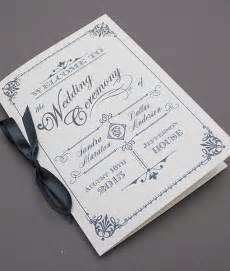 Wedding Booklet Templates by Diy Ornate Vintage Wedding Program Booklet Template Add