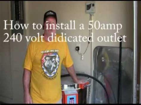 installing   amp  volt outlet  youtube