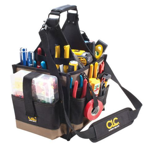 Electrical And Maintenance Tool Carrier Work Gear Pocket Tool Pouch custom leathercraft clc 1528 23 pocket large electrician tool box bag carrier ebay