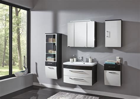 badezimmer anthrazit sam 174 5tlg badezimmer set hochglanz wei 223 anthrazit glas rima