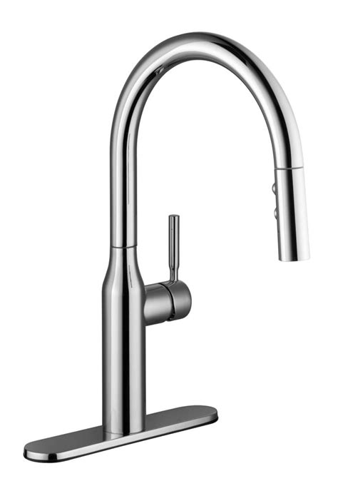 Faucets Canada by Pekoe Single Handle Pull Sprayer Kitchen Faucet In