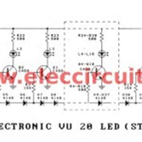 transistor vu meter electronic vu meter by lm3914 and lm3915