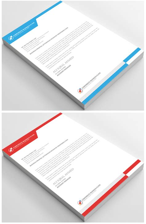 letterhead template psd 10 free letterhead psd templates on behance