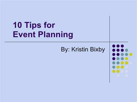 event planning powerpoint template event powerpoint