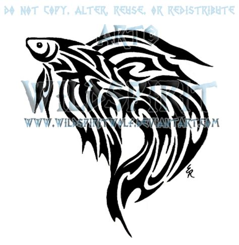 tribal betta fish tattoo by wildspiritwolf on deviantart