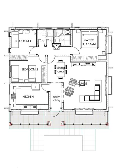 House Plans by House Plans In Kenya 3 Bedroom Bungalow House Plan