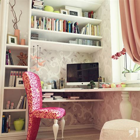 girly home decor furniture office design ideas pretty feminine girly office desk decoration with wide cubicle