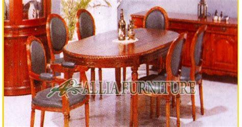 Meja Makan Hpl meja kursi makan jati ukiran allia furniture
