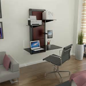 laptop and printer desk modern black glass wall mounted laptop desk with macbook
