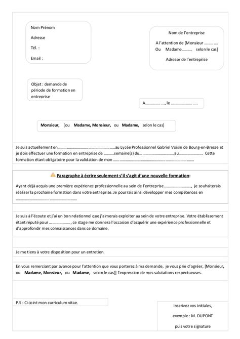 Vanter L Entreprise Lettre De Motivation lettre de motivation
