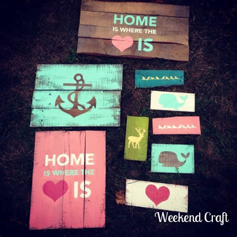 create diy pallet signs with your silhouette weekend