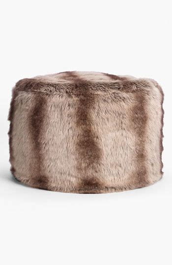 faux fur pouf ottoman nordstrom at home branson faux fur pouf nordstrom