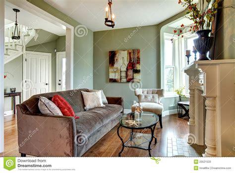 living room with green walls elegant green living room green walls stock image image