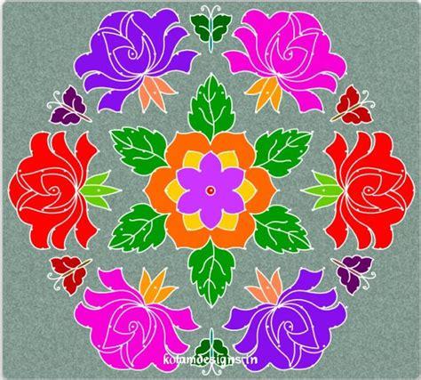 design flower kolam with dots flower kolam with dots jpg 743 215 671 rangoli pinterest