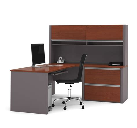 S Shaped Desk Connexion Brown Slate Or Slate Sandstone L Shaped Workstation With Ove Computerdesk
