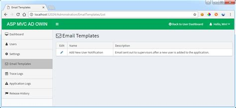 Email Templates For Asp Net   github winlwinoonet aspnetmvcactivedirectoryowin asp