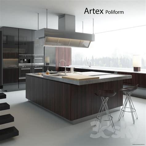 poliform kitchen design 3d models kitchen kitchen poliform varenna artex 2