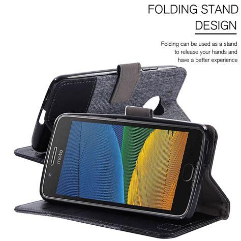 Flip Wallet Moto G5s Plus Flip Cover Leather Flip Cover Moto G5s for motorola moto g5 g5 plus magnetic flip leather shockproof card holder ebay