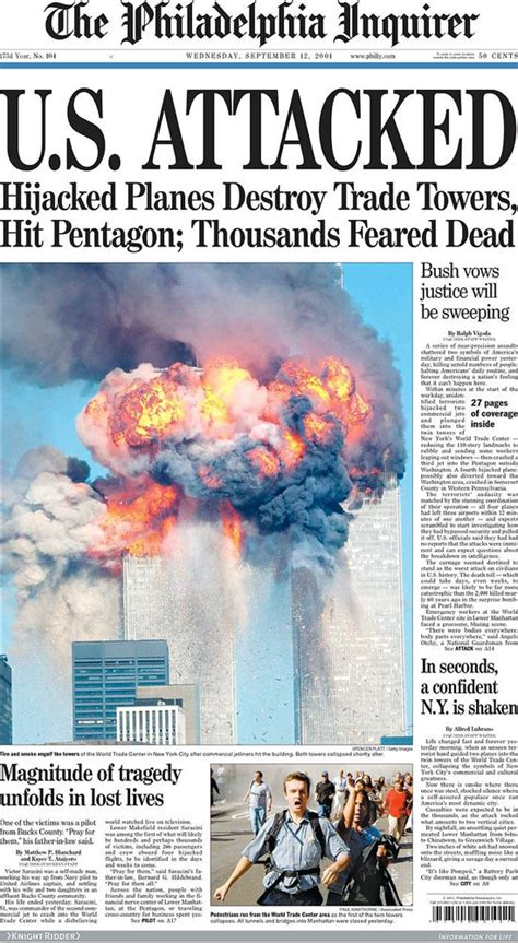 9 11 History Essay by Looking Back Newspaper Front Pages Covering 9 11 Newspaper Headlines Newspaper And American