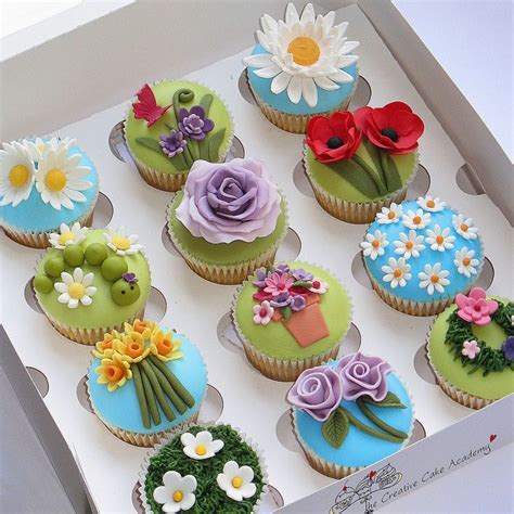 Flower Garden Cake Ideas 67401 25 Best Ideas About Fondant Flower Cupcakes On Pinterest Fondant Flowers Flower Cupcakes And