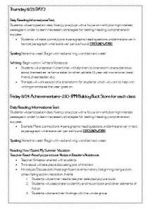 language arts lesson plan template mrs beers language arts class 6th grade reading