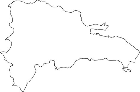 Dominican Republic Outline Map