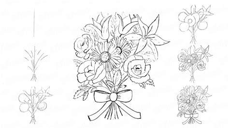 come disegnare i fiori come disegnare a matita un bel bouquet di fiori