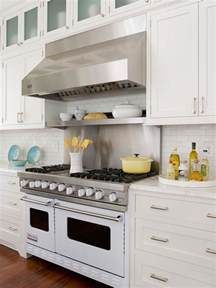 Stainless Backsplash With Shelf by Stainless Steel Cooktop Shelf Cottage Kitchen Bhg