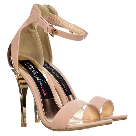 gold strappy mid heel sandals onlineshoe peep toe high back mid heels gold heel