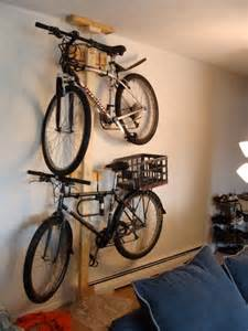 Hanging Bike Rack by Hang Your Bike On The Wall With Mike Sapak S Diy Bike Rack