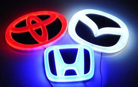 Logo Atau Emblem Toyota Ori jual emblem mobil car logo nyala lu led honda toyota mitsubishi blue l biru abs chrome 3m