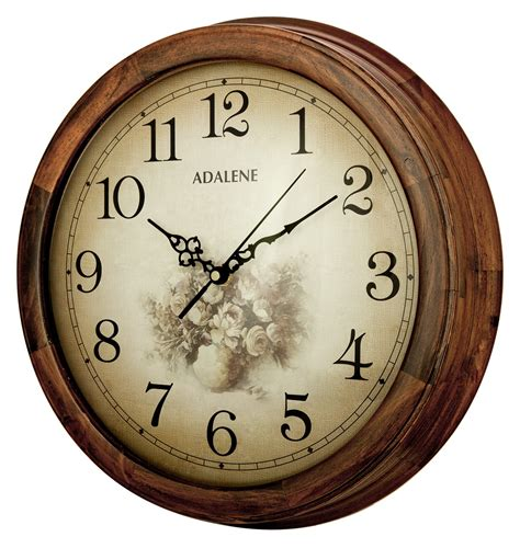 decorative wall clocks battery operated adalene 14 inch wall clock large decorative living room