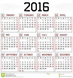 Calendario Hebreo 2018 Calendrier De L 233 E 2016 Illustration De Vecteur Image