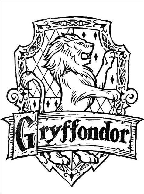 reddit harry potter coloring book gryffindor badge by sonadow9000 on deviantart