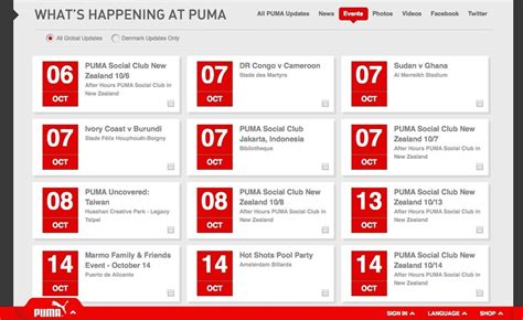design considerations event calendars puma