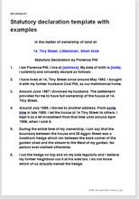 statutory declaration name change template statutory declaration template with completed exles