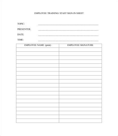 employee sign in sign out sheet template employee sign in sheet template 11 free pdf documents