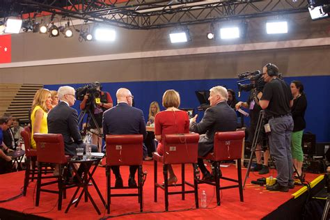 the spin room photos republican presidential debate in miami wink news