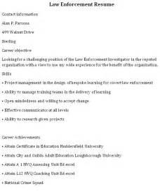 resume objective exles enforcement bestsellerbookdb