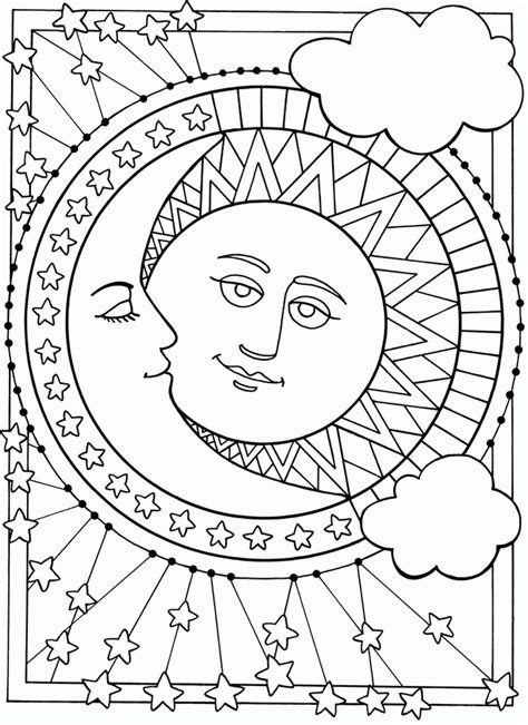 Half Sun Coloring Page | best photos of moon half sun coloring pages sun and moon