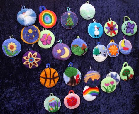 felted picture christmas ornaments castle of costa mesa