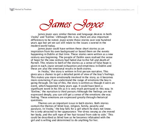 Joyce Essays by College Essays College Application Essays Eveline Joyce Essay