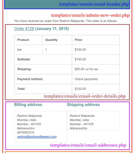 woocommerce customize receipt email template how to customize woocommerce order emails tyche softwares