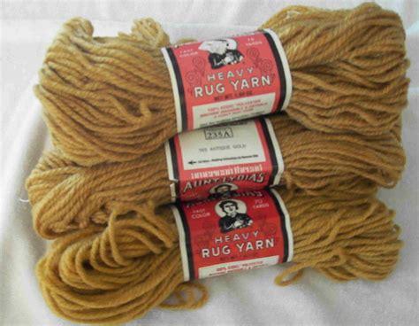 rug yarn skeins lydias heavy rug yarn six skeins antique gold other