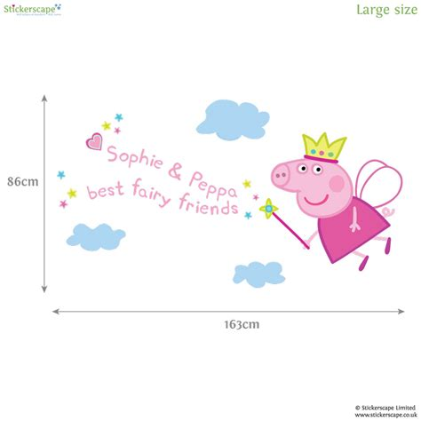 Fairy Princess Wall Stickers personalised fairy princess peppa wall sticker