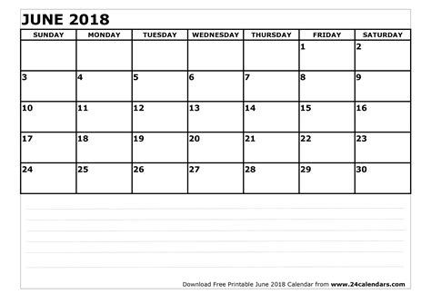 printable june 2018 calendar june 2018 calendar printable