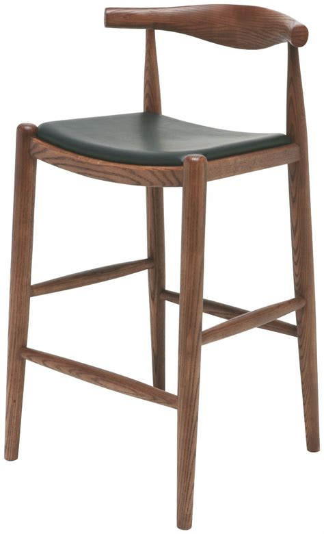 leather counter stools maja walnut leather counter stool hgem550 nuevo