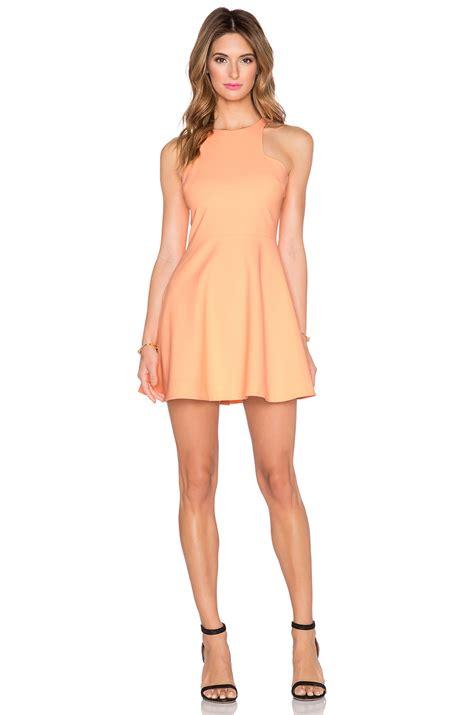 elizabeth and clarissa dress in orange lyst