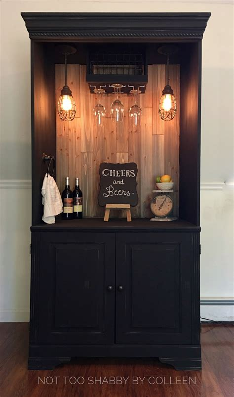 Armoire Whisky by Upcycled Repurposed Armoire Converted Into A Bar